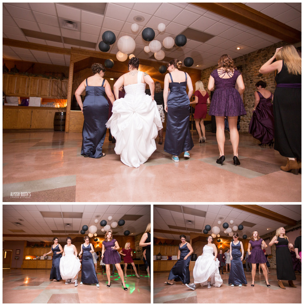Dance | Marisa & Garrett 10.23.15 | Wedding at the Lawton Community Center | Kalamazoo Mi | Alyssia Booth's Candid & Studio
