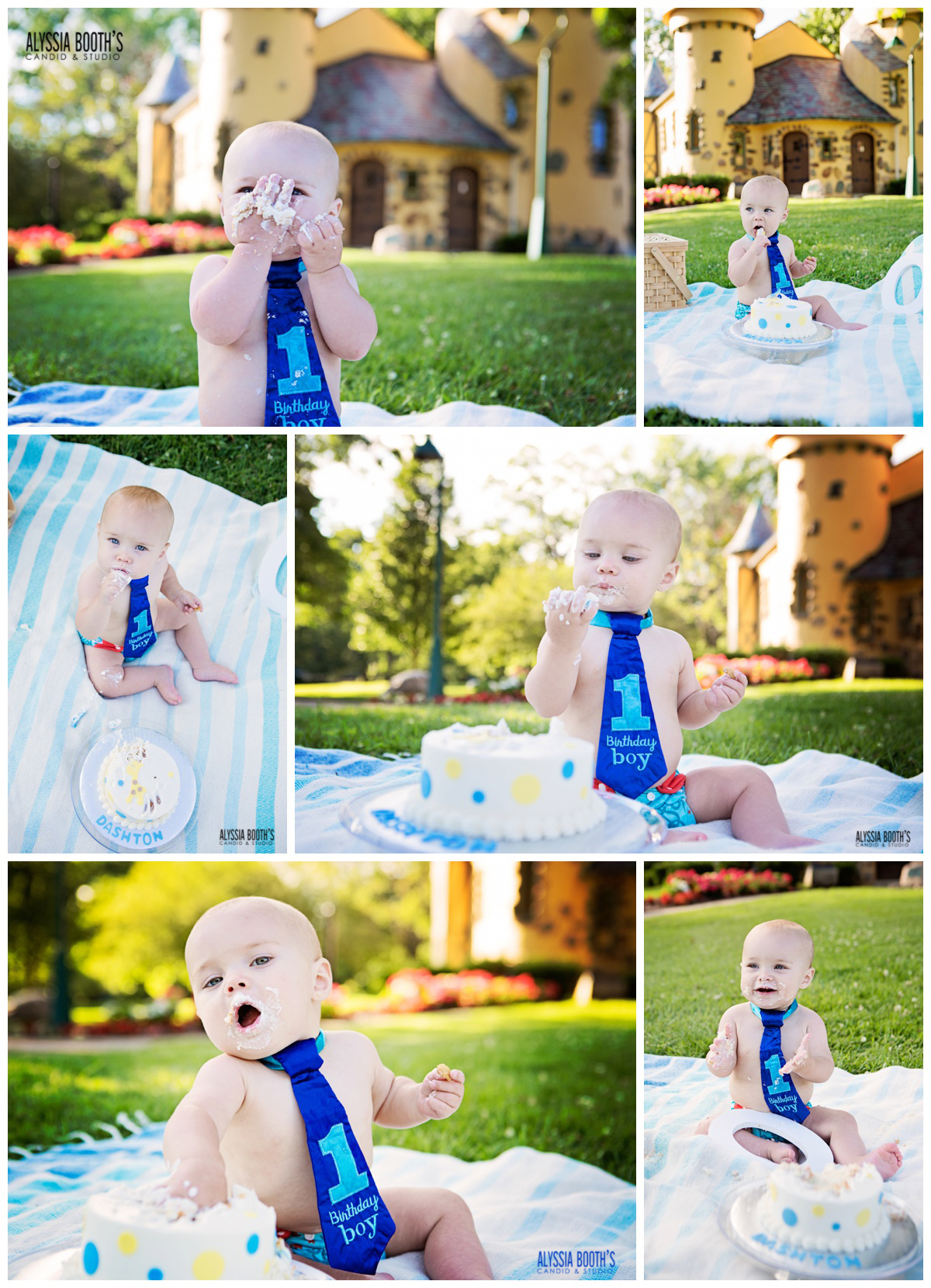 Cake Smash | First Birthday | Alyssia Booth's Candid & Studio | Michigan Photographer