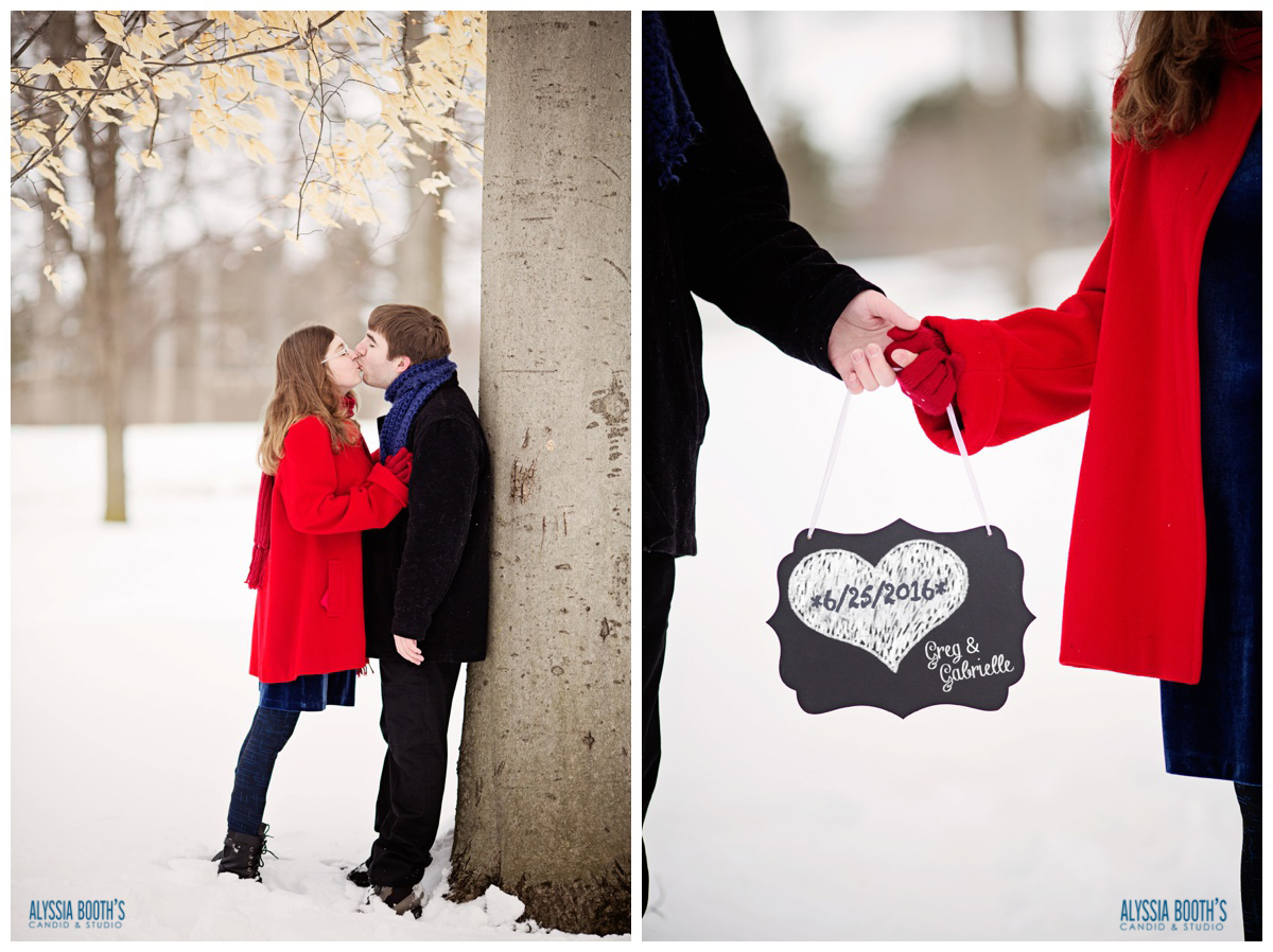 Save the Date | Engaged | Love | Alyssia Booth's Candid & Studio | Okemos Mi