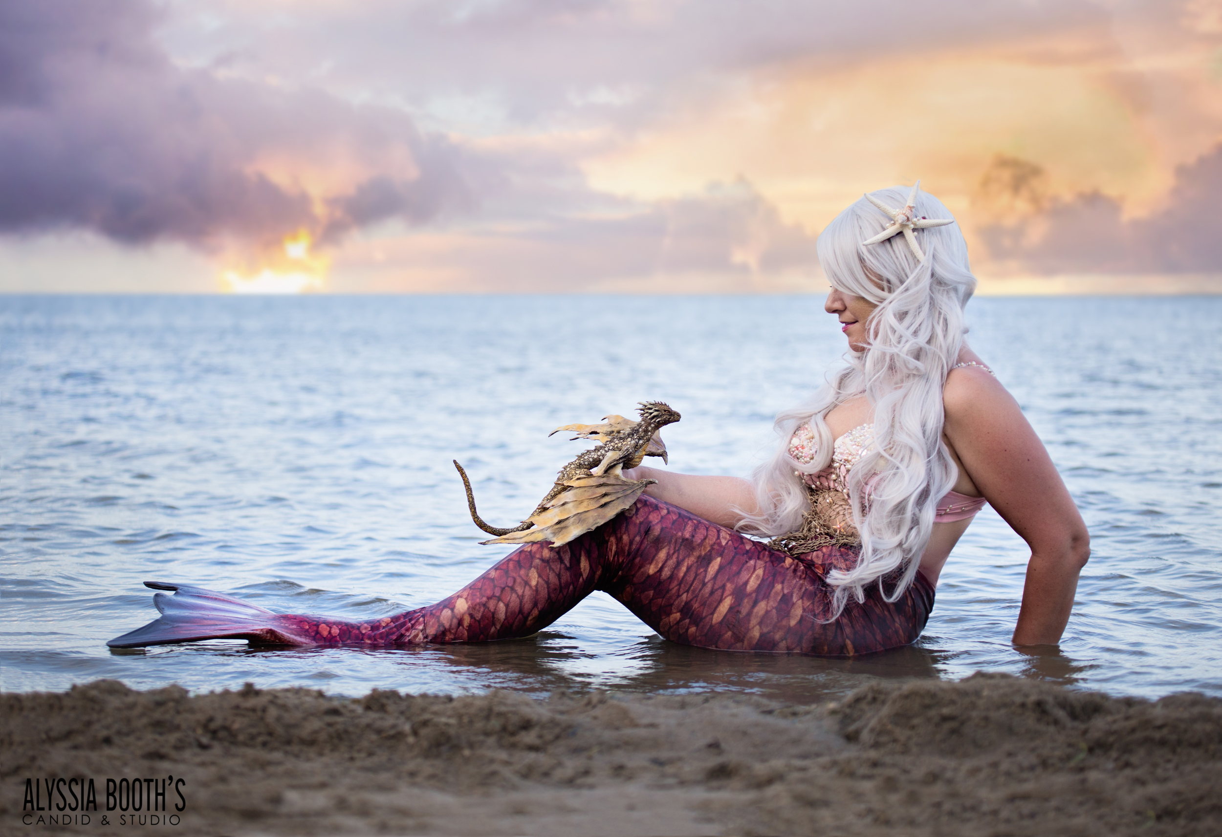 Mermaid And The Hatchling | Alyssia Booth's Candid & Studio | Michigan Photographer | Fantasy