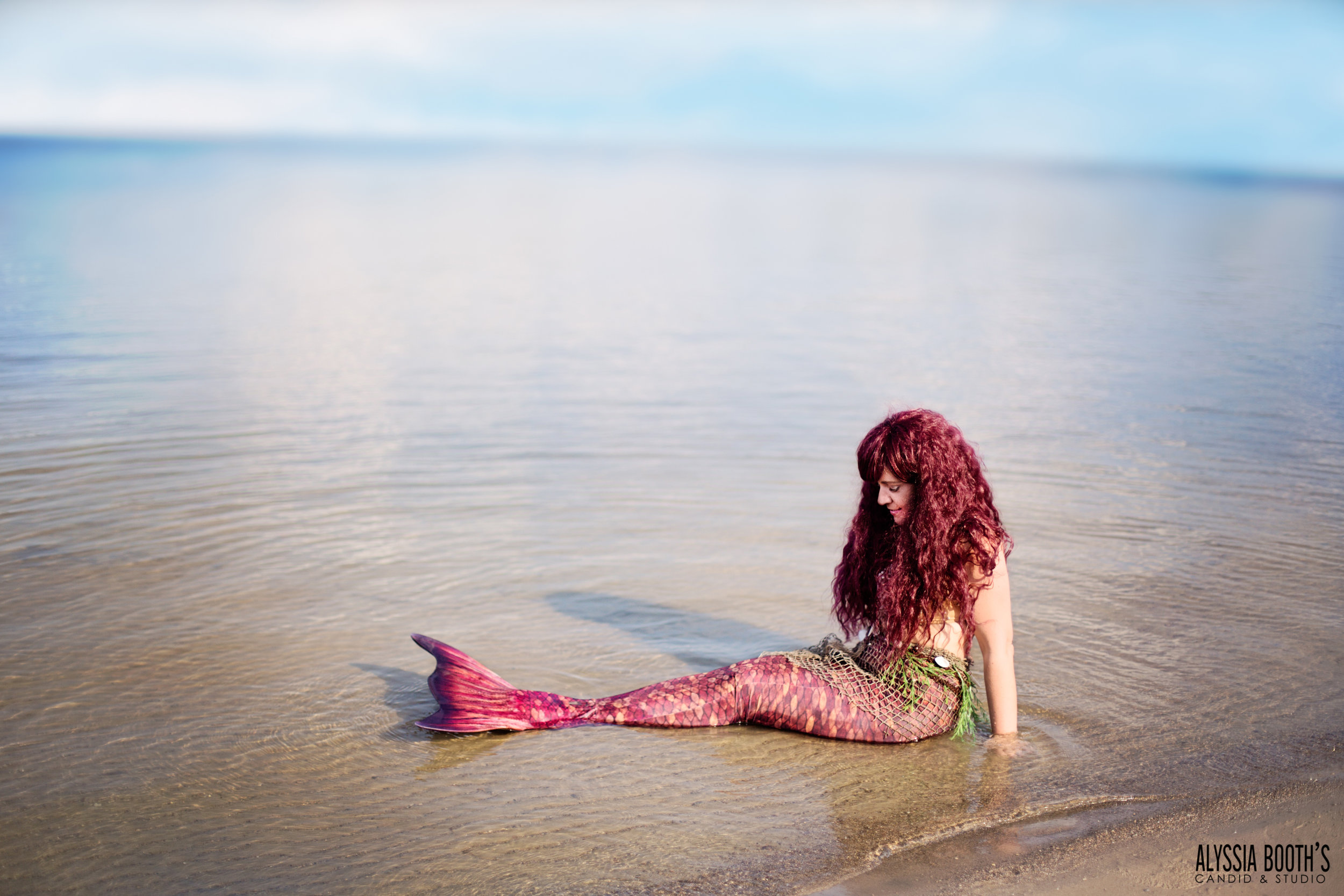 Mermaid at the beach | Alyssia Booth's Candid and Studio | Michigan