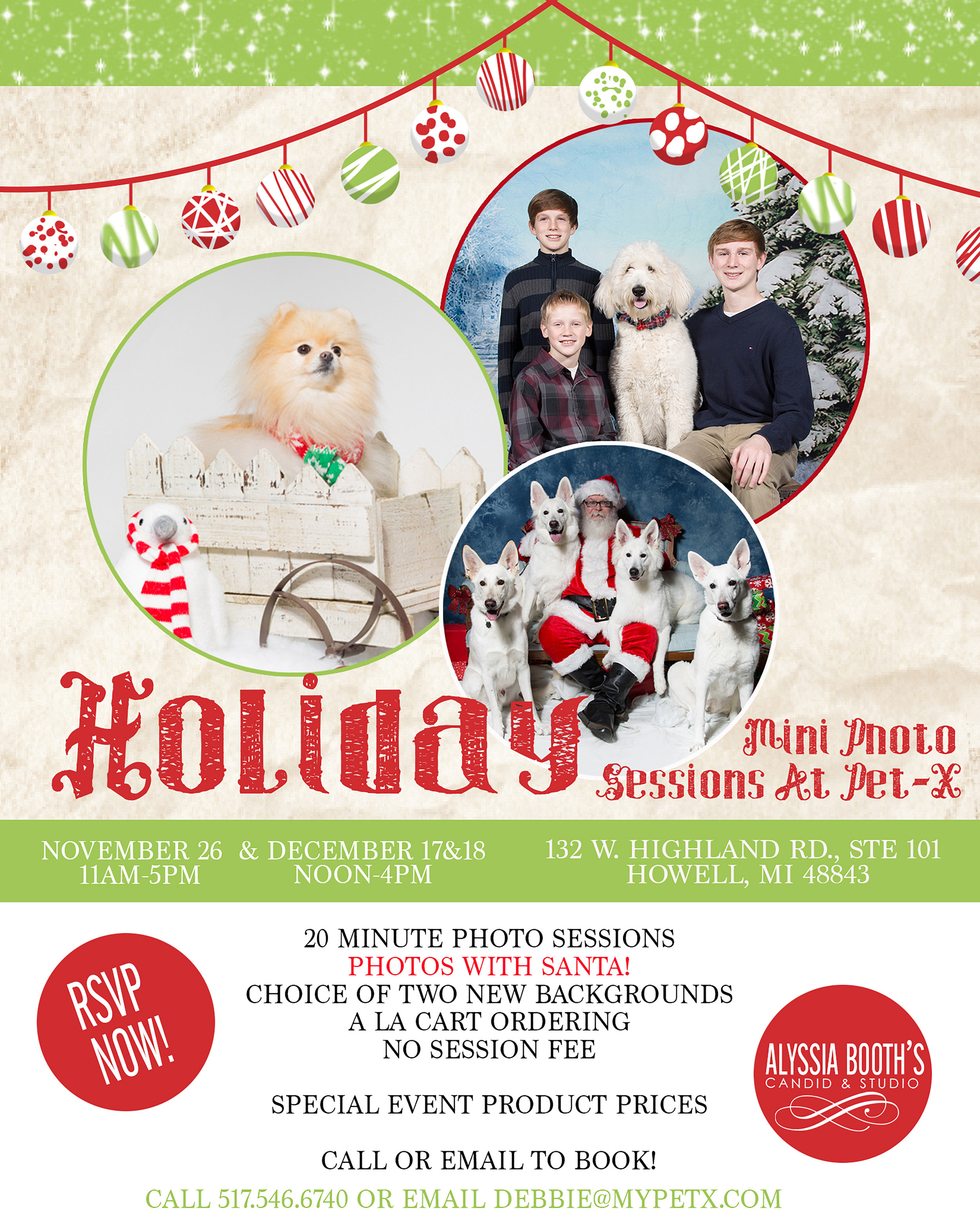 Santa Photos At PetX in Howell Michigan | Alyssia Booth's Candid & Studio