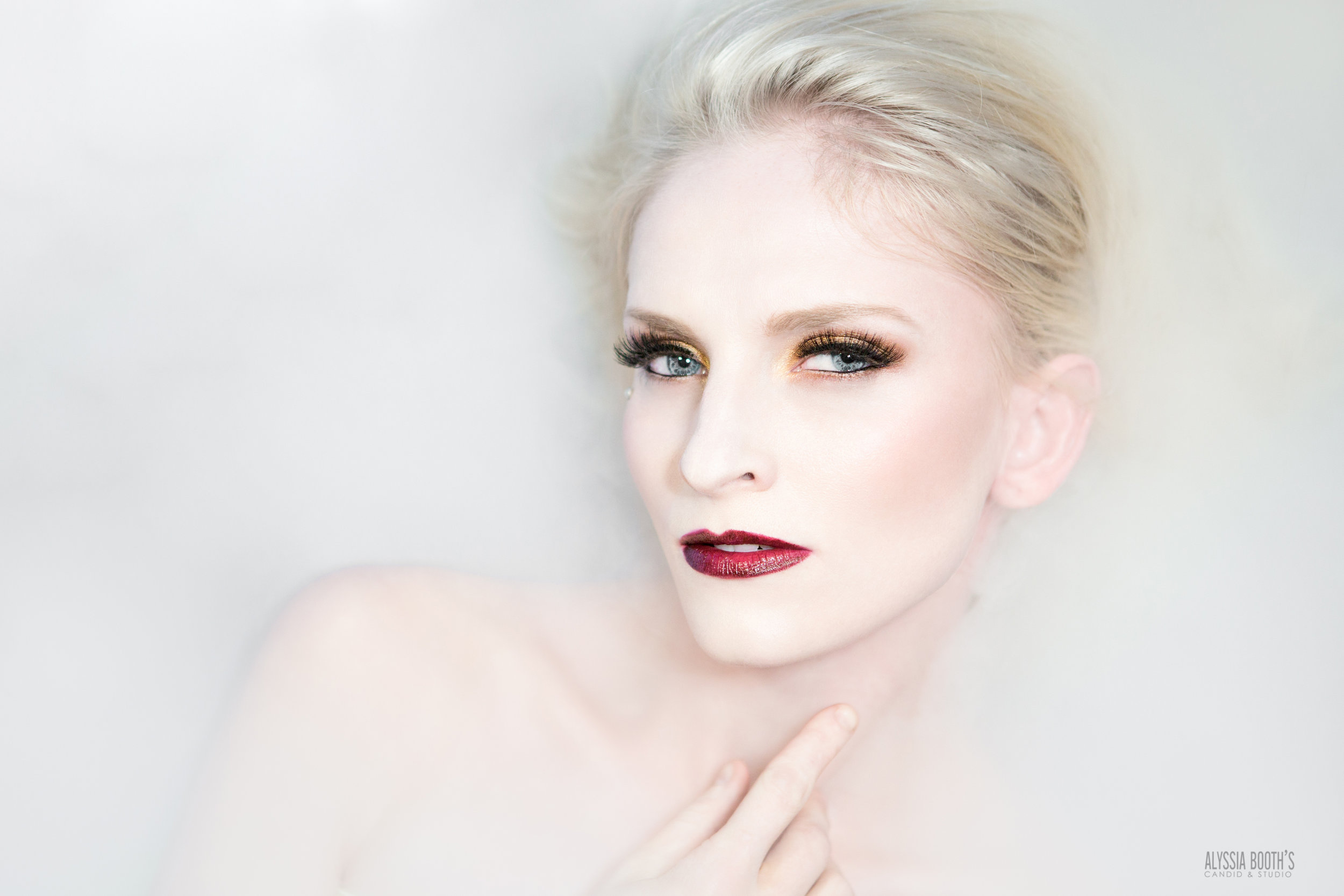 Dry Ice Photoshoot   Gold Makeup Test   Alyssia Booth's Candid & Studio   Michigan Photographer