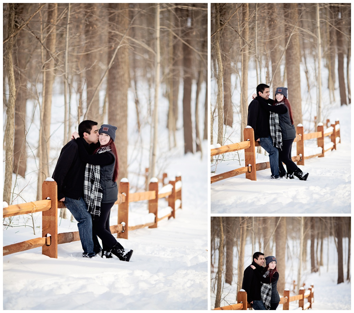 Winter Engagement Photoshoot | Michigan Couples Snow Photoshoot | E-Session | Alyssia Booth's Candid & Studio | Michigan Wedding Photographer | www.abcandidstudio.com