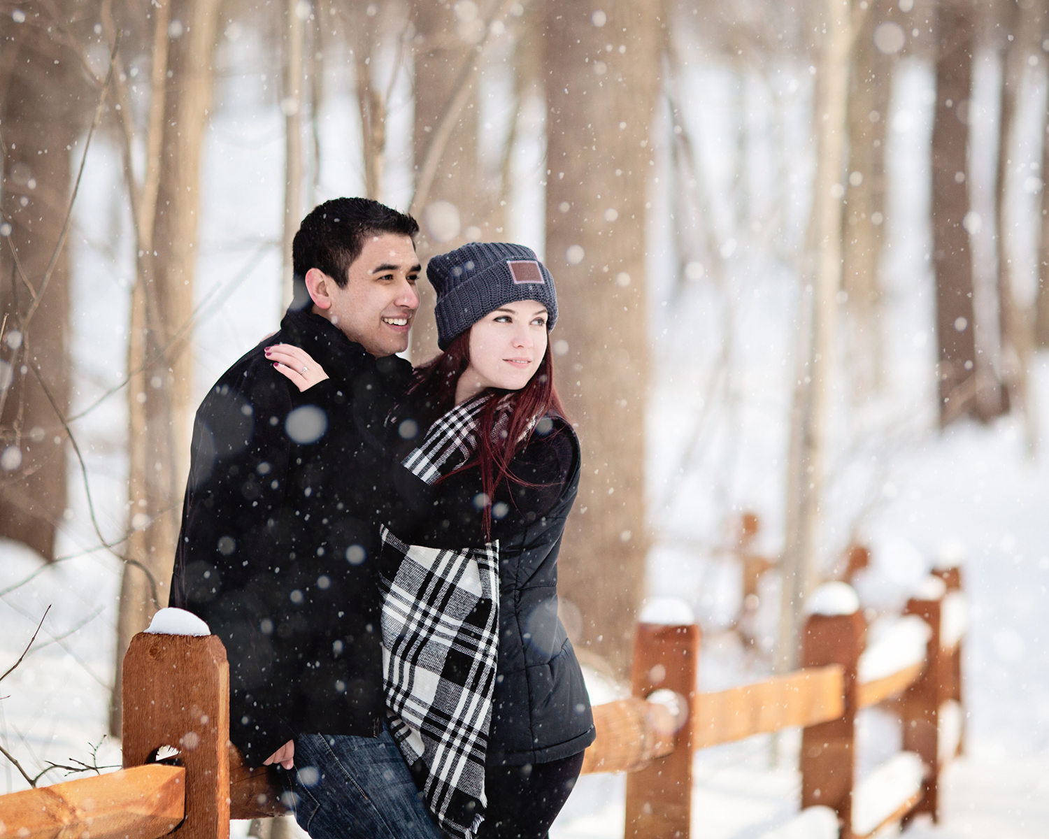 KM Engagement | Winter Engagement Photoshoot | Snowy Photoshoot | Michigan Couples Snow Photoshoot | E-Session | Alyssia Booth's Candid & Studio | Michigan Wedding Photographer | www.abcandidstudio.com