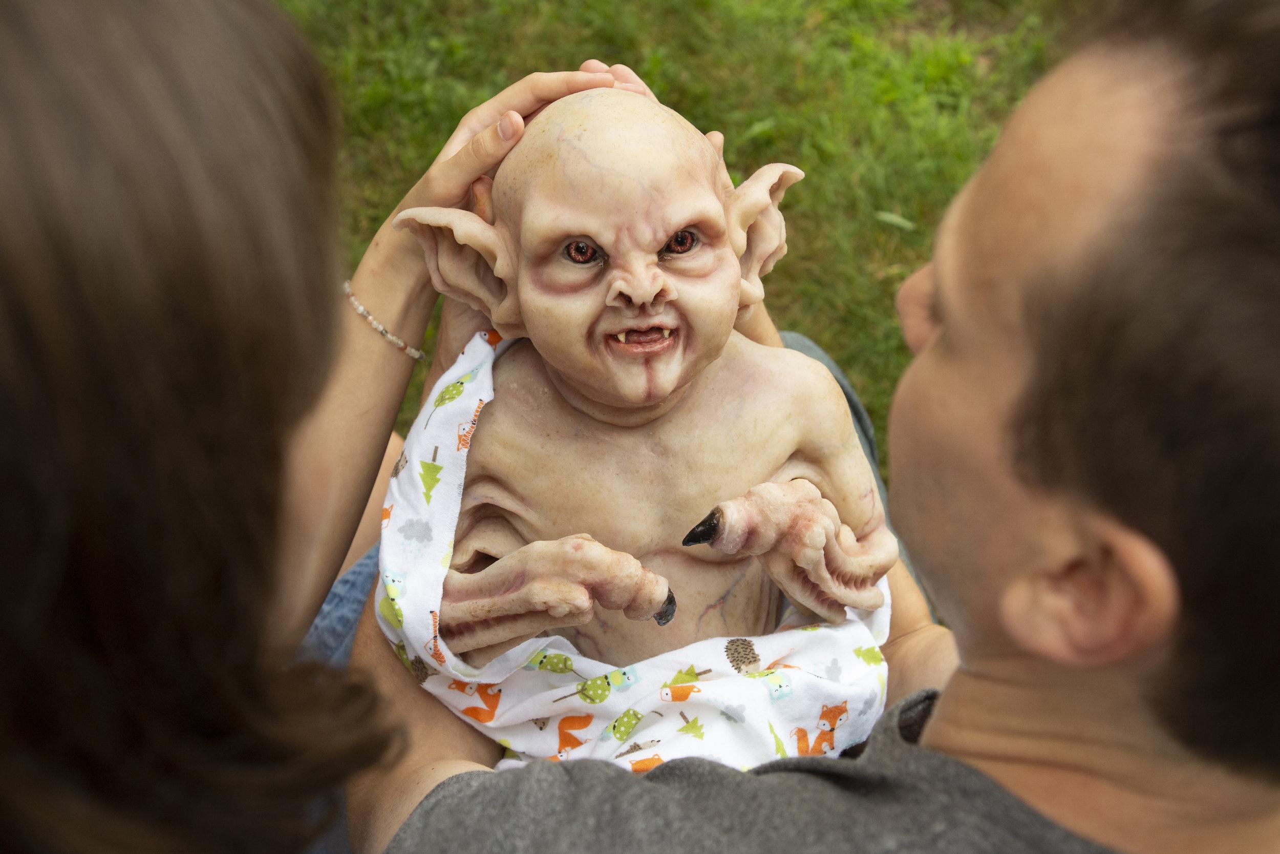 Newborn Vampire  | Newborn photoshoot | Ravendark Creations Vampire Baby | Newborn Photoshoots | Alyssia Booth's Candid & Studio | www.abcandidstudio.com