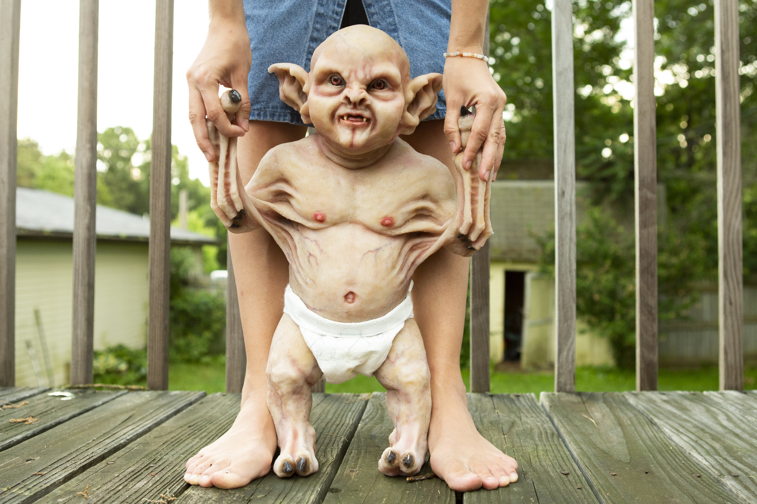 Tiny Demon | Newborn Vampire  | Newborn photoshoot | Ravendark Creations Vampire Baby | Newborn Photoshoots | Alyssia Booth's Candid & Studio | www.abcandidstudio.com