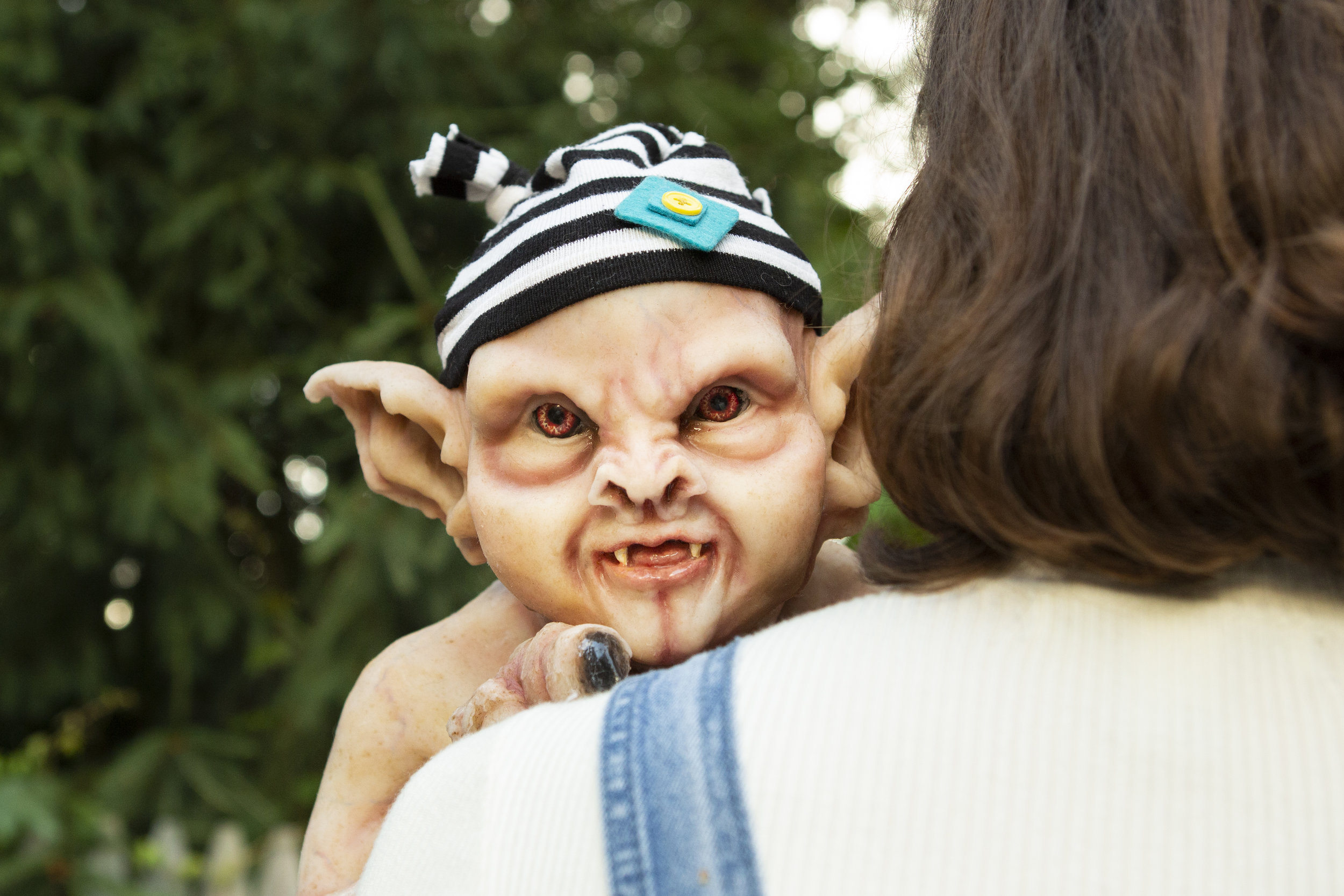 Fun Hats | Newborn Vampire  | Newborn photoshoot | Ravendark Creations Vampire Baby | Newborn Photoshoots | Alyssia Booth's Candid & Studio | www.abcandidstudio.com
