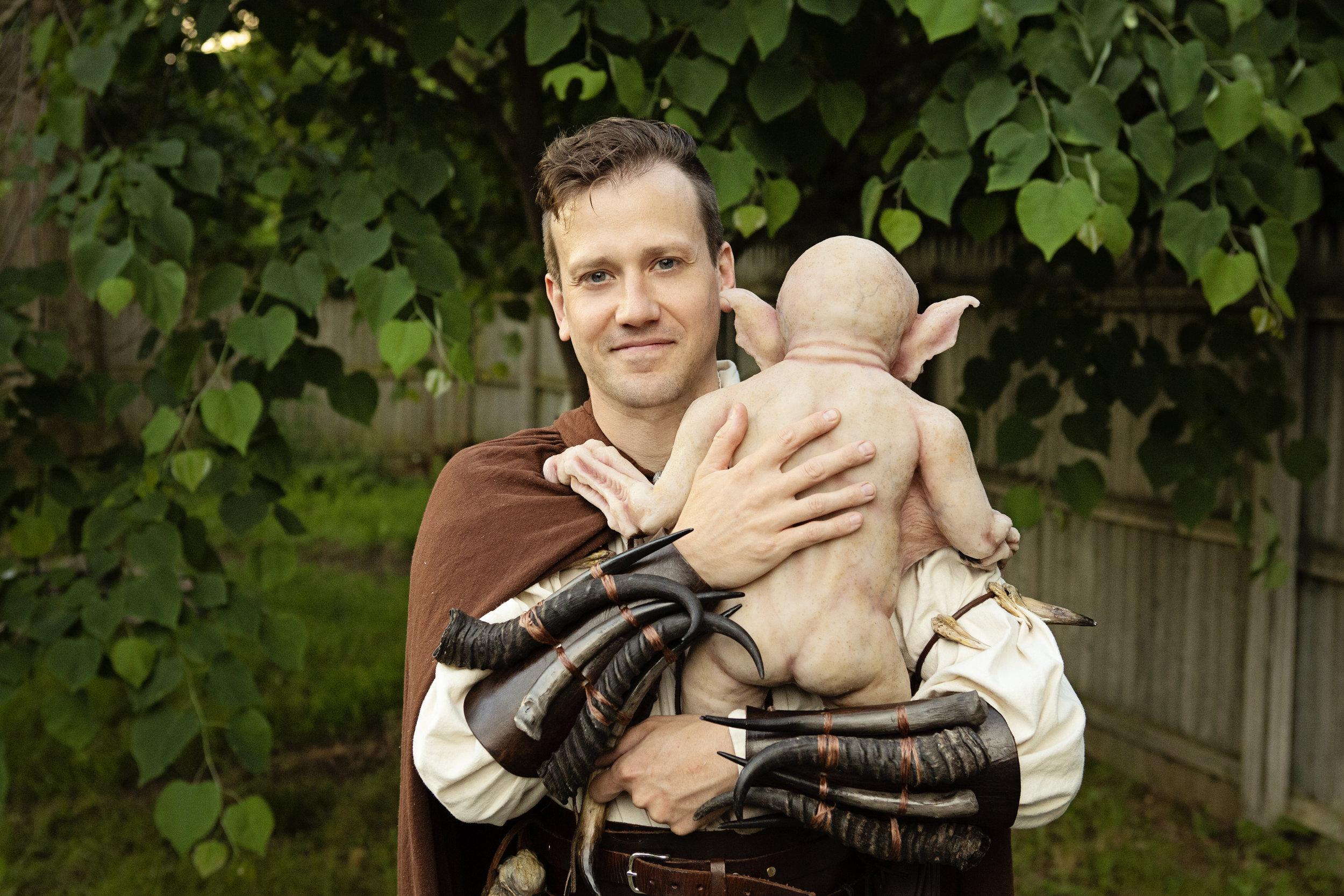 Lil Butt  | Newborn Vampire  | Newborn photoshoot | Ravendark Creations Vampire Baby | Newborn Photoshoots | Alyssia Booth's Candid & Studio | www.abcandidstudio.com