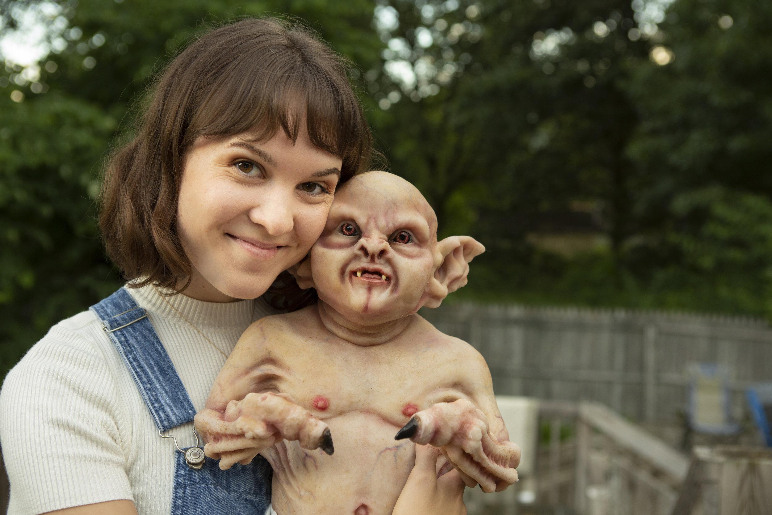 Mother's Love  | Newborn Vampire  | Newborn photoshoot | Ravendark Creations Vampire Baby | Newborn Photoshoots | Alyssia Booth's Candid & Studio | www.abcandidstudio.com
