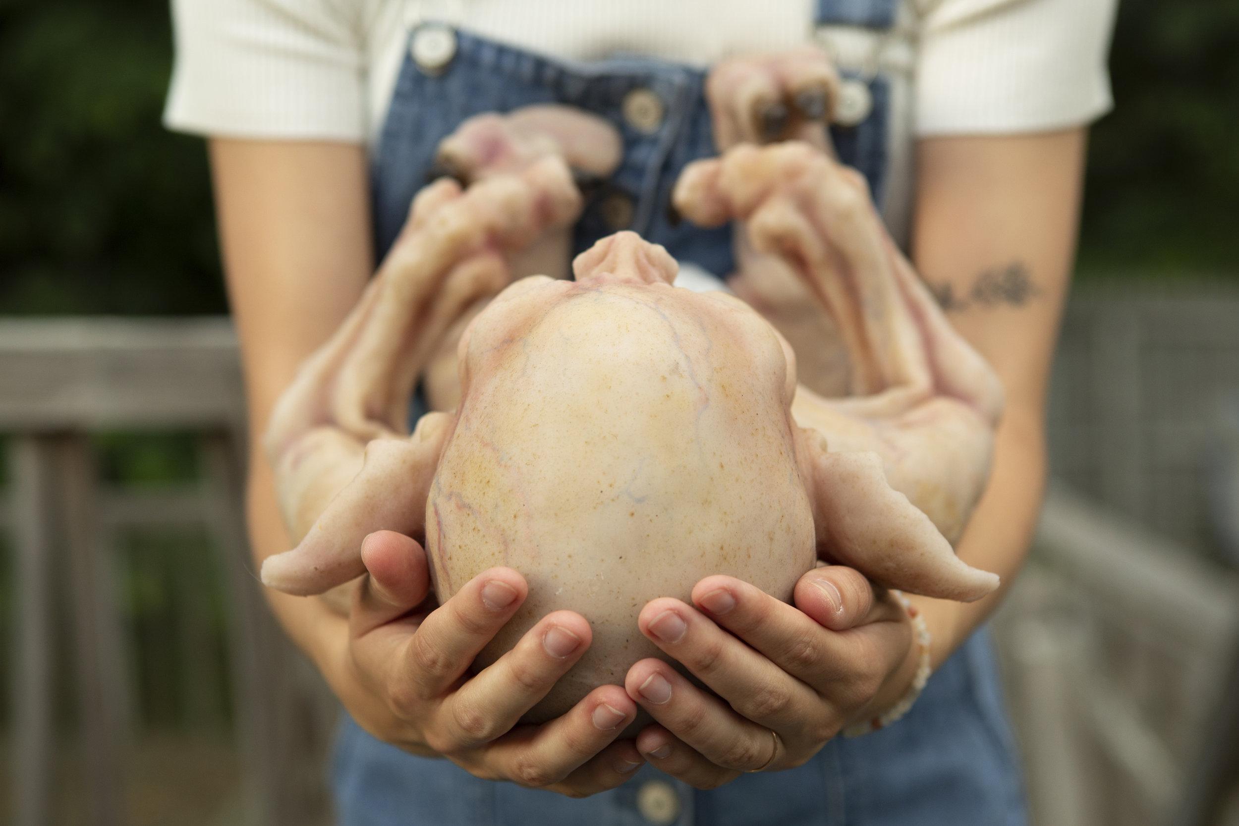 Head in Hands  | Newborn Vampire  | Newborn photoshoot | Ravendark Creations Vampire Baby | Newborn Photoshoots | Alyssia Booth's Candid & Studio | www.abcandidstudio.com