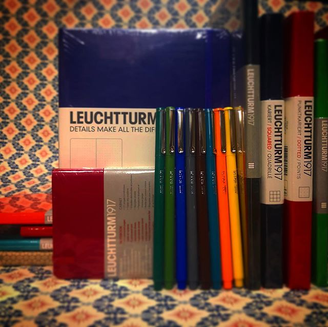 Remember this summer forever with these durable, stylish notebooks from @leuchtturm1917 and colorful pens by Le Pen. The Leuchtturm notebooks lay flat when opened, the covers are soft and durable —and pages are numbered with a table of contents so you can note those special days. We carry notebook types for every type of person — dotted or completely blank for the free spirits, lined or squared for the well-disciplined. Le Pens come in florescent and classic colors from teal to pastel peach, with a precise tip and smooth flowing ink. Come into Just Paper & Tea to find the style that's best for you! • • • • • #justpaperandtea #bestofthedistrict #washingtonsmallbusiness #notebook #journal #journaling #write #georgetowndc #washingtondc #pens #stationery #leuchtturm1917 #colorful #paper