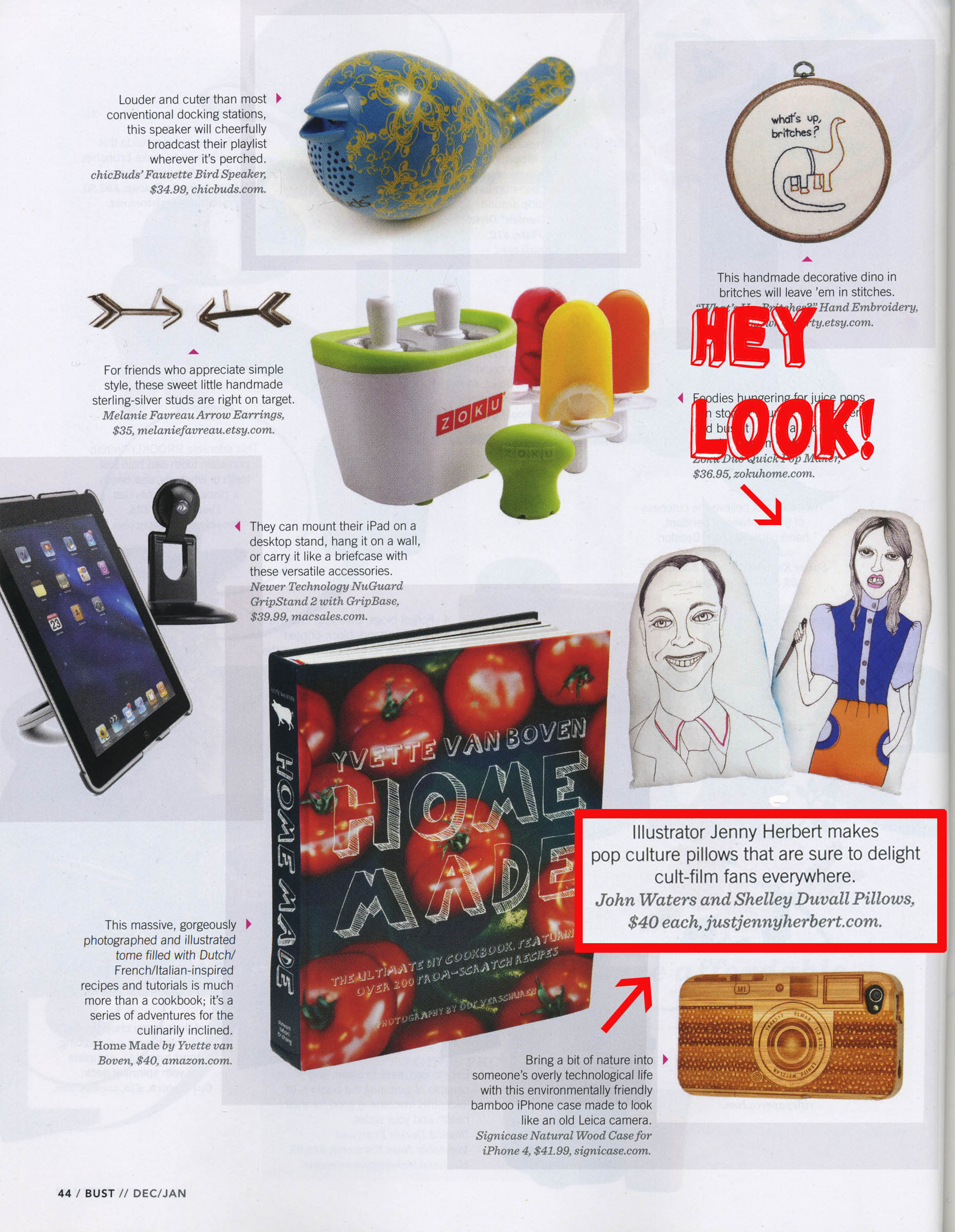 Featured in BUST Holiday Guide
