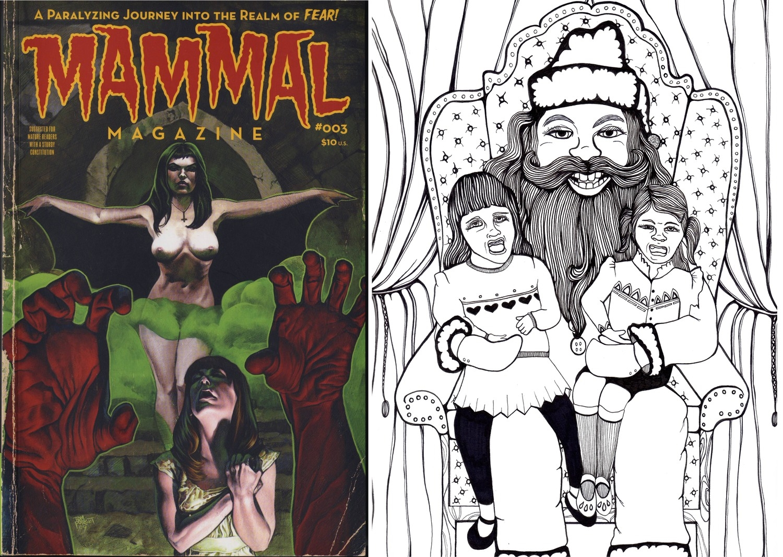 """Scary Santa"" Illustration for Mammal Magazine"