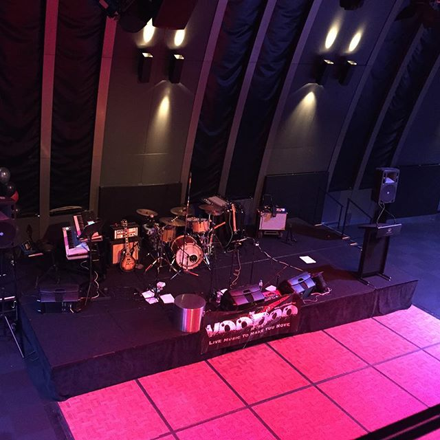 The stage is set for the Ebsworth Lawyers Christmas Party! #voodooband #corporateband #covers #livemusic #melbourne
