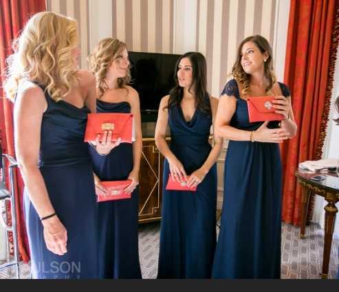 Petite Coral Clutches for Bridesmaid Gifts