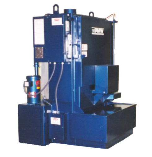 """The same features and working sizes as the Model 112 but is fully insulated and has a larger fluid capacity. Choose this unit if your cleaning needs require constant use.  The model 113 is the perfect Power Spray Washer for the small shop as well as an inexpensive additional washer for the large shops overflow work or to isolate aluminum cleaning. The 113 rugged, heavy duty welded construction assures years of trouble free service and includes key features resulting in performance benefits. The model 113 utilizes a hot water soluble cleaning agent.   Model 113 features:    Labyrinth Door Design  - eliminates the need for troublesome replacement seals.   32"""" Work Height  - will accept any automotive block, cylinder head or transmission body in today's market.   Door Mounted Turntable  - Swings out to provide easy access for loading or unloading.   Nine large steel jets  to assure quick, thorough cleaning.   500 lb. Capacity  - withstands multi-loading heads, blocks, transmissions or parts.   Spring loaded  drive motor for constant tension.   Fully insulated  cleaning chamber for efficient operation.   Other Sizes & Options available .   Size  - 65""""H x 52""""W x 46""""D   Standard 1250 lbs."""
