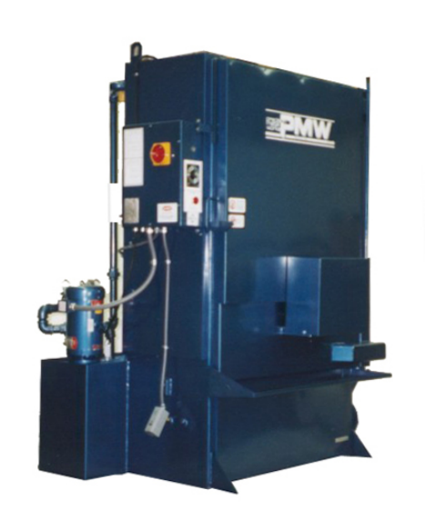 """Put up to 1000 lbs. of parts in this power house. With a 36"""" dia. turntable and 42"""" of working height it will handle just about any cleaning job with ease. A 7 1/2 hp. pump sprays 110 gpm @ 60 psi.  The model 612 is ideal for commercial rebuilders and larger shops. 7-1/2 H.P. pump, 1/15 H.P. turntable gear motor, 12 Kw. electric heat, Insulated cabinet, Electric lockout, 120 gal, reservoir and 5 cu. ft. parts basket standard. The many options available allow the user to custom design the 612 to meet all applications. Contact P.M.W. for information on other available models.   Model 612 features:    Labyrinth door design  - eliminates the need for troublesome replacement seals.   42"""" work height  - will accept any automotive block, cylinder head or transmission body in todays market.   Door mounted turntable  - Swings out to provide easy access for loading and unloading. 1000 lb. capacity turntable.   Other Sizes & Options Available .   Size  - 84""""H x 72""""W x 52""""D   Standard 1850 lbs."""