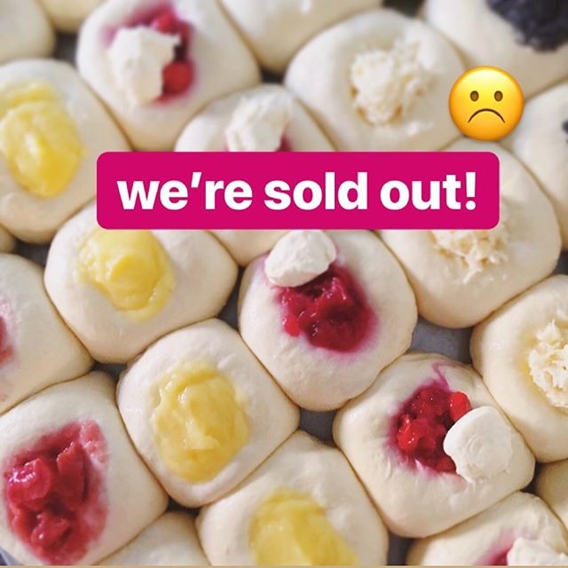 So sorry, y'all! We're sold out of #kolaches for the day. But don't worry, we'll be back with the deliciousness tomorrow morning!