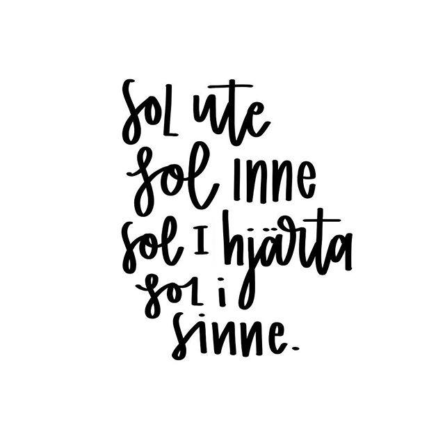 My favorite Swedes quote. Sunshine outside, sunshine inside, sunshine in the heart sunshine in the mind. #namaste #quote #pma #sunshine #lettering #handlettering #procreate #procreatelettering #goodtype #sthlmletteringclub #tycxa #letteringpractice #typegang #type #typography #typographyinspired #typographyinspiration #quotestoliveby #bokstavsillustration #ipadprocreate #designspiration