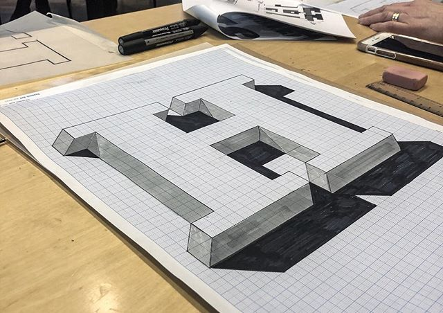 This Saturday I went to an amazing workshop in 3D Lettering with the super talented @jamesllewis at the @postmuseum in Stockholm. It was sooo much fun and I can't wait to show you my final piece. Just need to go buy some more acrylic paint first! Here's a pic of the first practice letter we did. - It's such a nice feeling to put so much effort in to a letter! There's about 6 times of tracing that goes in to making one of these. And this one isn't even colored in! More of these o come! - Thank you @jamesllewis and also a big thanks to @fialottajanssondesign set it all up! #sthlmletteringclub #letteringcommunity #letteringco #3dlettering #jameslewis #workshop #handmade #handmadetypography #handmadetype #goodtype #3dtype