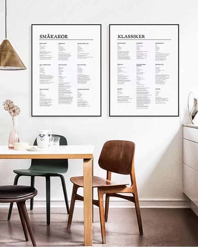 New kitchen posters 👌🏼 #poster #posterdesigb #graphicdesign #typo #typography #graphicdesigner #freelancer #kitcheninteriors #interiordesign #wallart #recipes #recipeposter #cookies #foodies #köksposter #köksinspiration