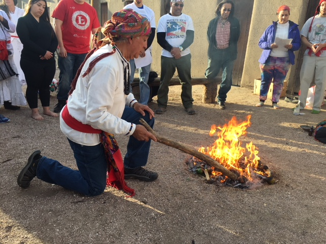 The Fuego Sagrado balances us... - These sacred teachings are recited over and over each time we do a Fuego Sagrado and we ask for the four directions, the four colors of Maiz and Humans who walk the planet at this time.