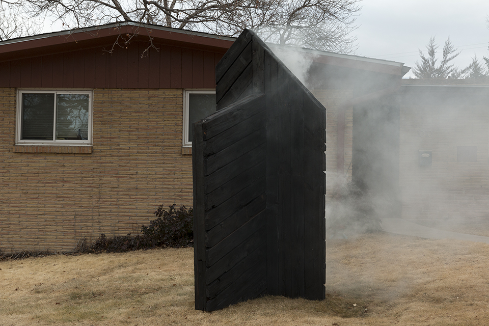 LAURA LAPPI   Untitled (Study of Charring Wood and Burning Structures II)