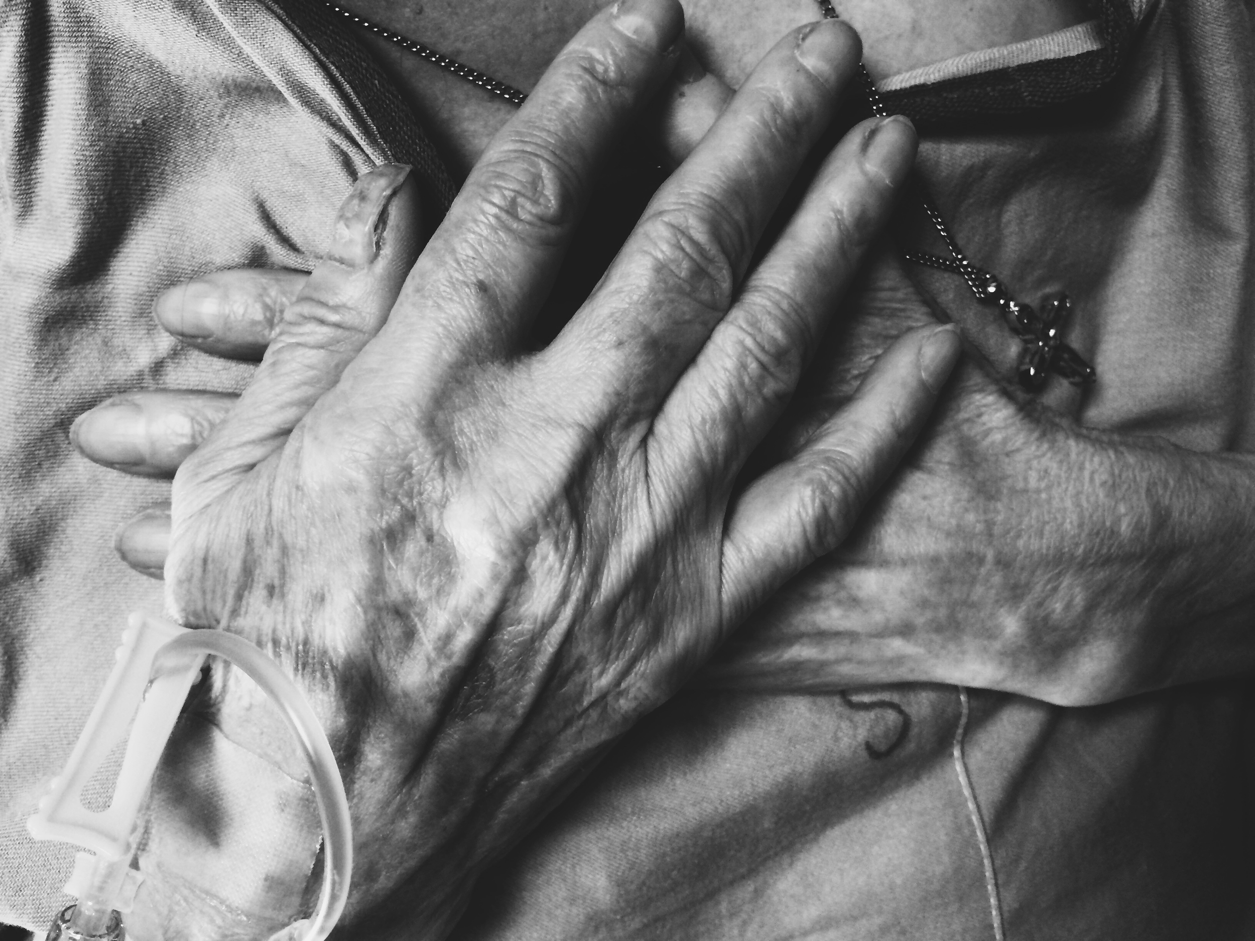 A lot of this day was spent sitting in a hospital, listening to grandma tell stories. And before my eyelids close from exhaustion, I still want to share. Because my grandma places her hands on her heart the same way I do when we really pray. Because IVs have always made me scared. Because she is forever trying to make sure I am getting enough protein. And because it's important to take images simply because all of this matters.