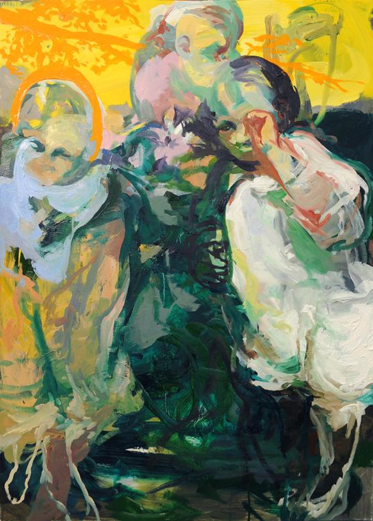 Three Children , oil on canvas, 34x48in, 2013