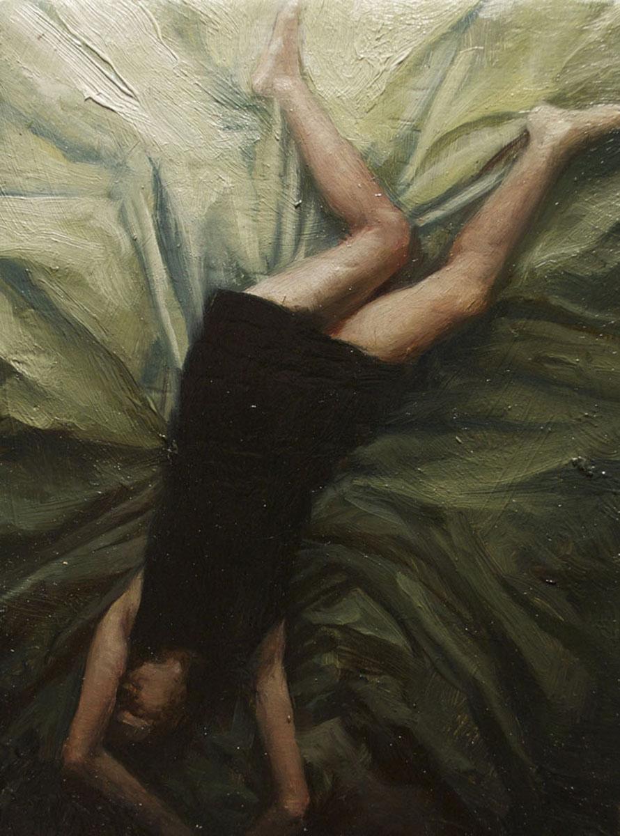 Sleeper 4 , oil on board, 4x2.5in, 2012