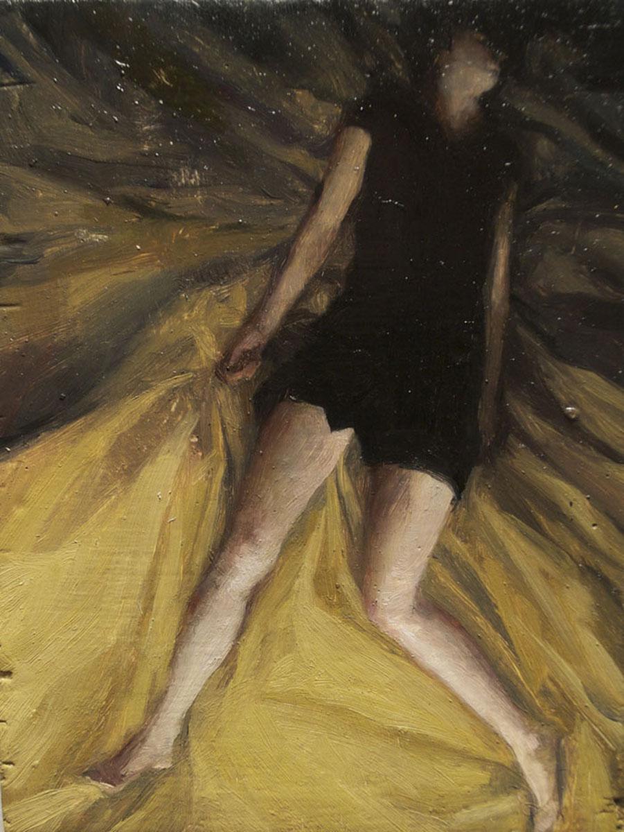 Sleeper 2 , oil on board, 4x2.5in, 2012