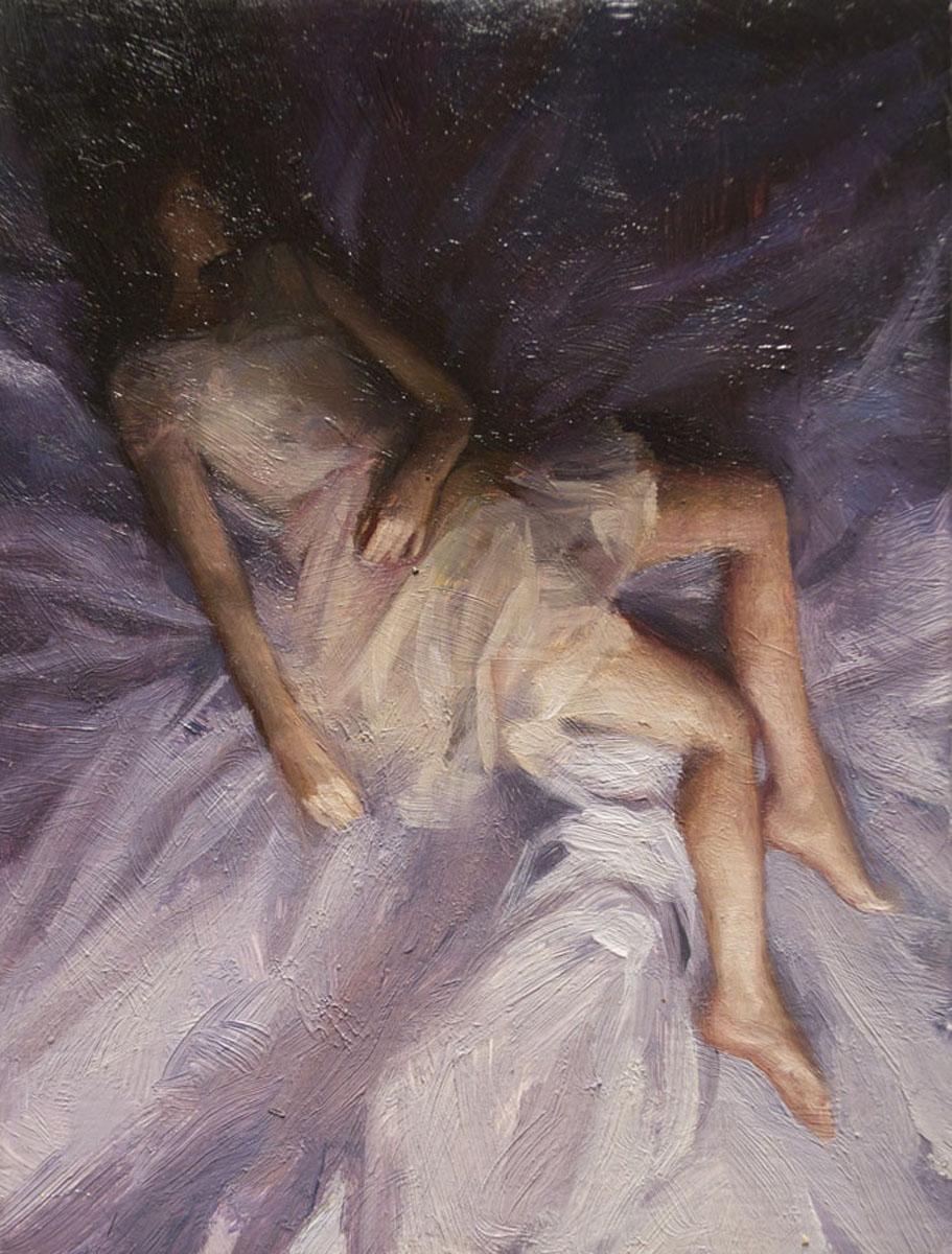Sleeper 6 , oil on board, 4x2.5in, 2012
