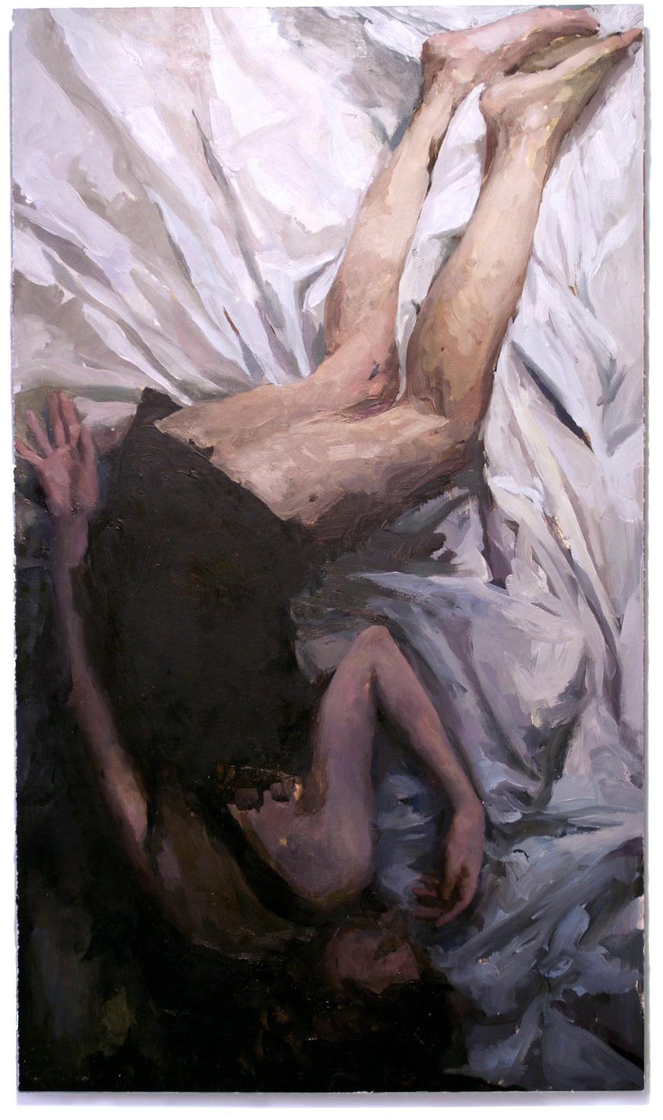 Sleeper , oil on board, 30x17in, 2012