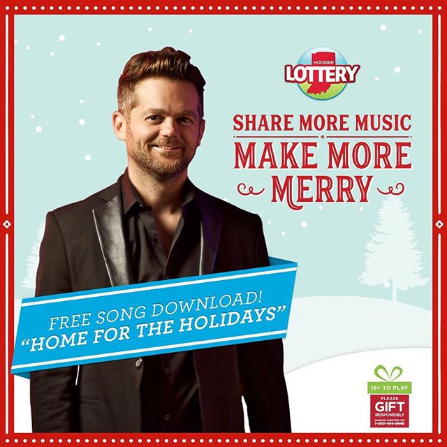 A holiday gift from me and @hoosierlottery. Download my original song Home For The Holidays here http://bit.ly/2gS5oWS