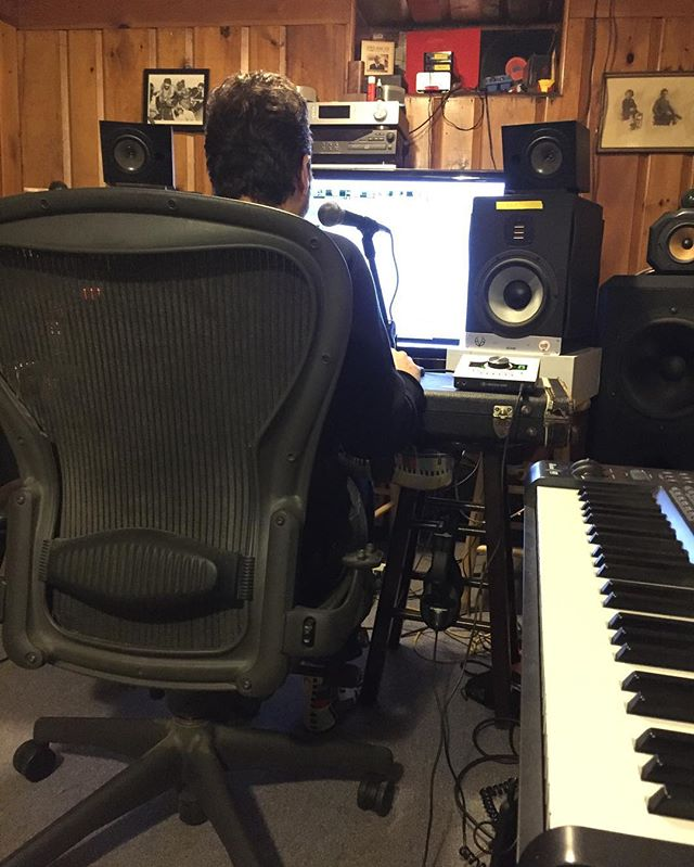 Back in the studio with @bleutopia working on more new songs!