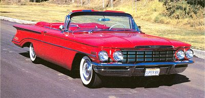 The 1960 Oldsmobile small Super 88  Photo by: Publications International, Ltd., 2007