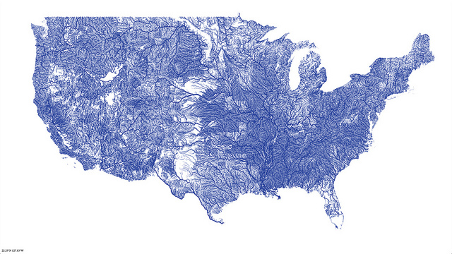Photo Credit: Nelson Minar's Beautiful Map of Rivers in the United States. ( Flickr , 2013)