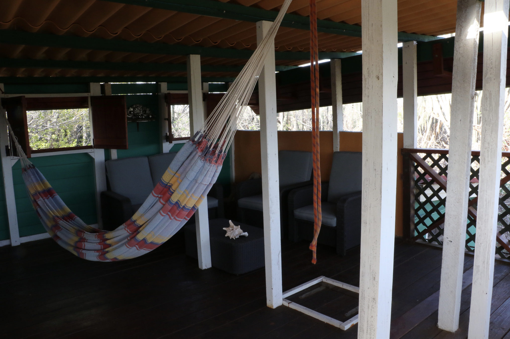The Upstairs Living Room and Hammock!