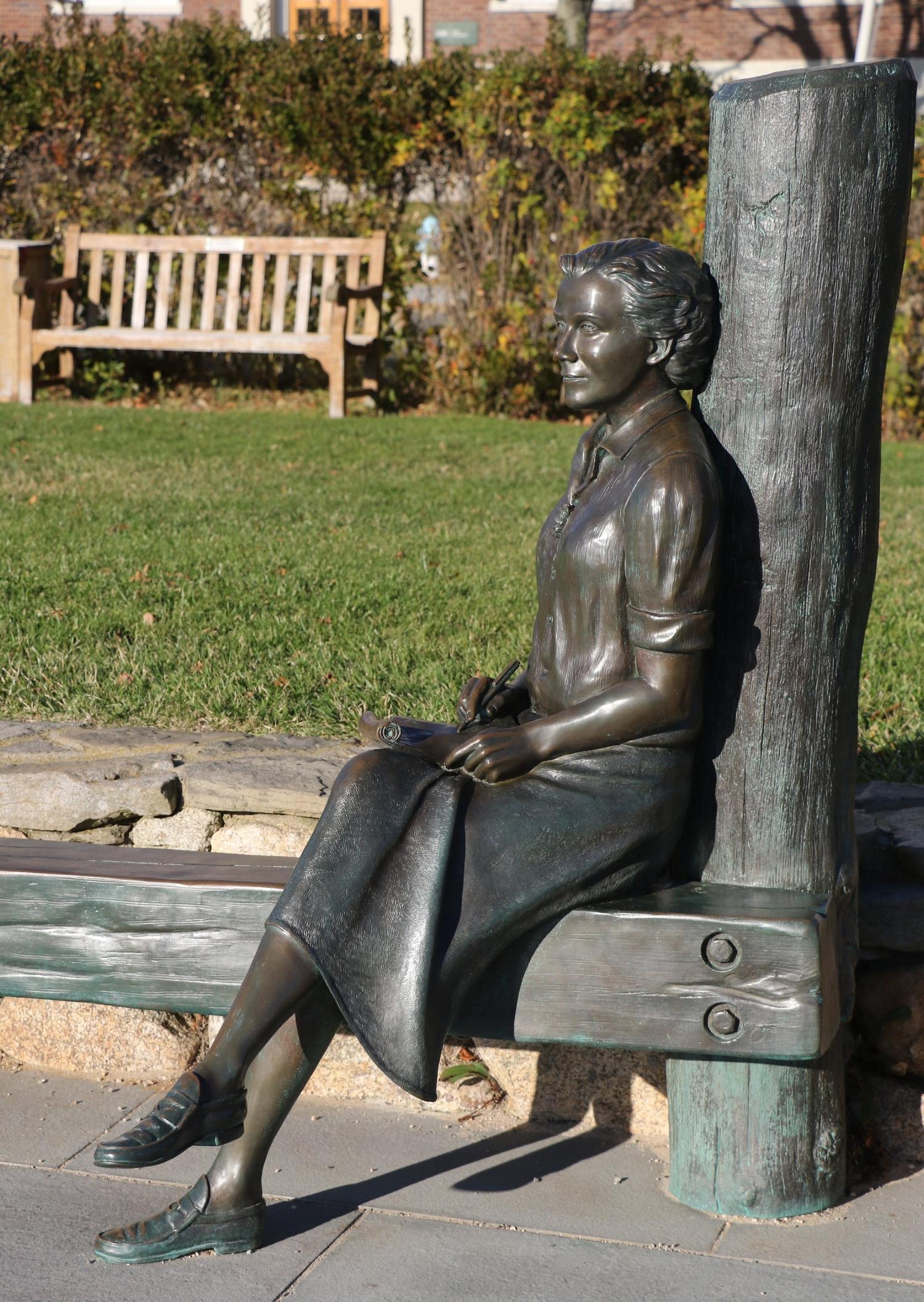 Waterfront Statue of Environmental Activist Rachel Carson