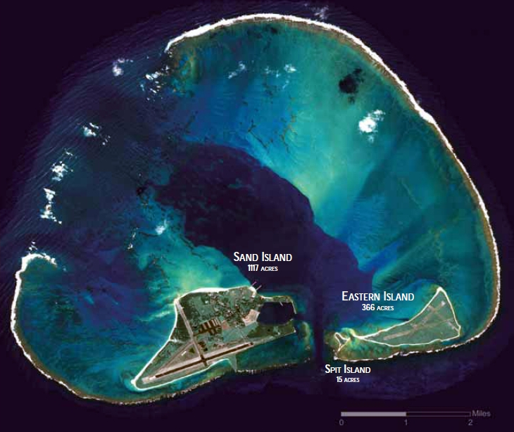 Satellite Image of Midway Atoll, 2008. Photo Credit:  Wikipedia