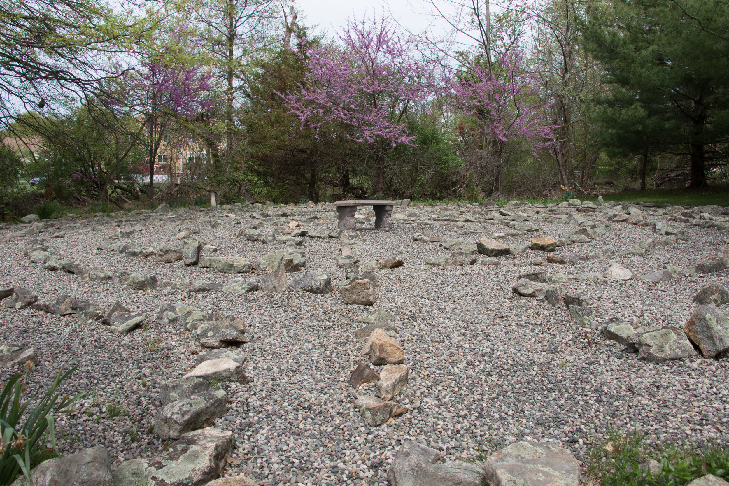Labyrinth: Stone, Gravel, and Flowers