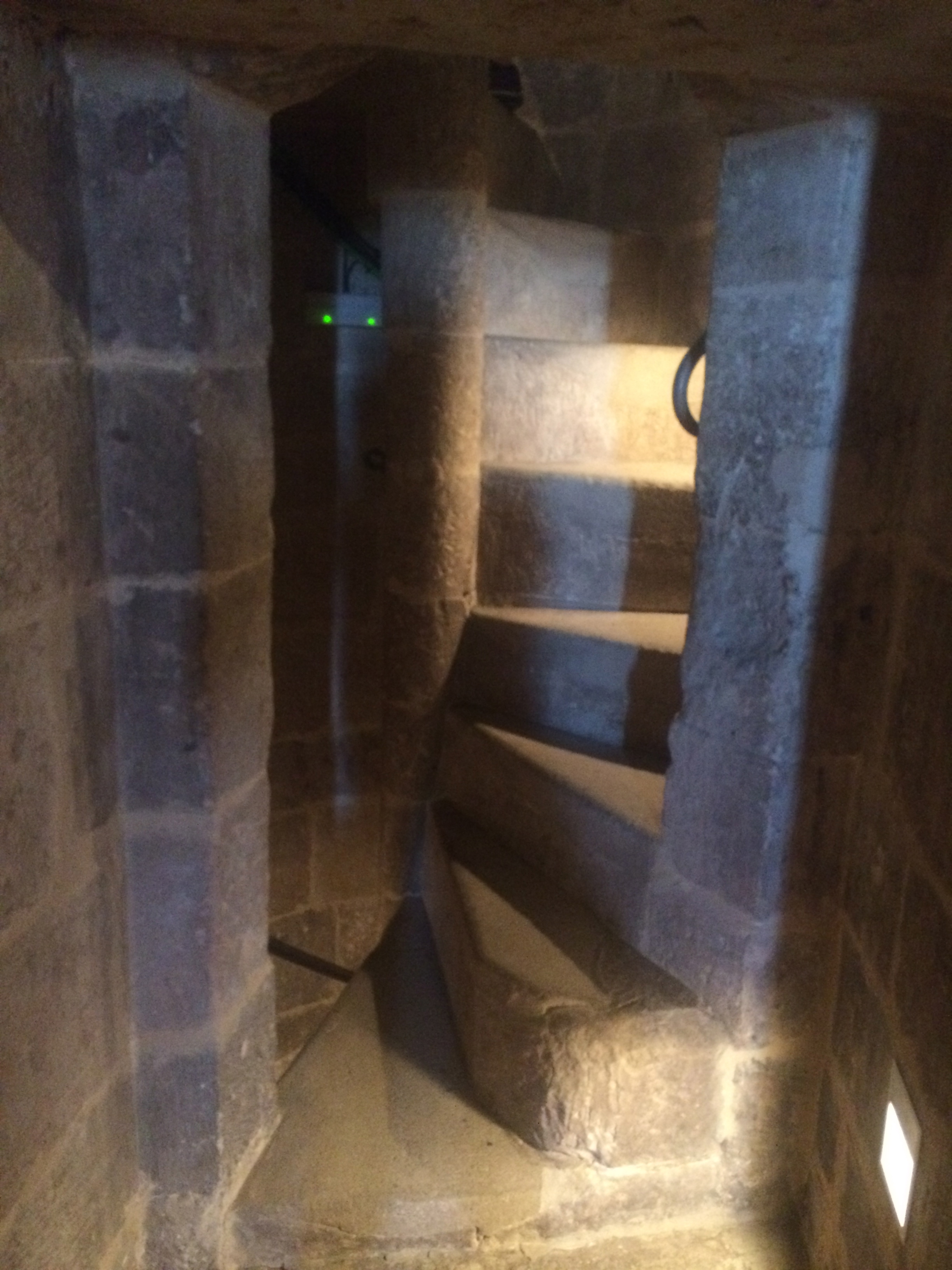 The spiral staircases were deceptively difficult to walk on. I'm amazed none of us fell and were added to the crypt below!