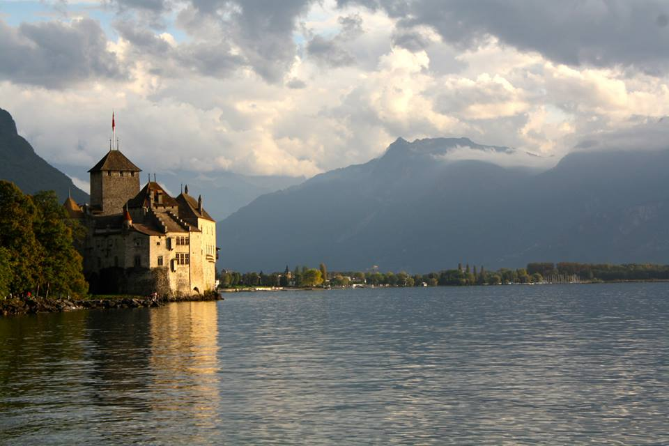 Chateau de Chillion is an ancient castle right on lake Geneva in Switzerland.