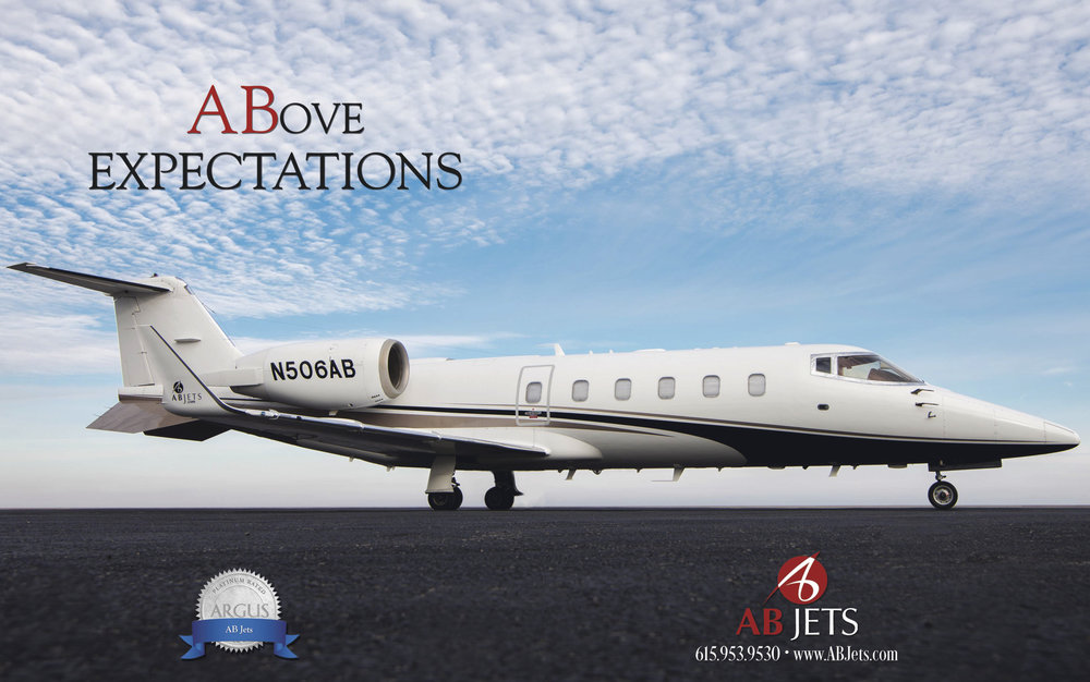 Advertising photography for AB Jets in Nashville Tennessee