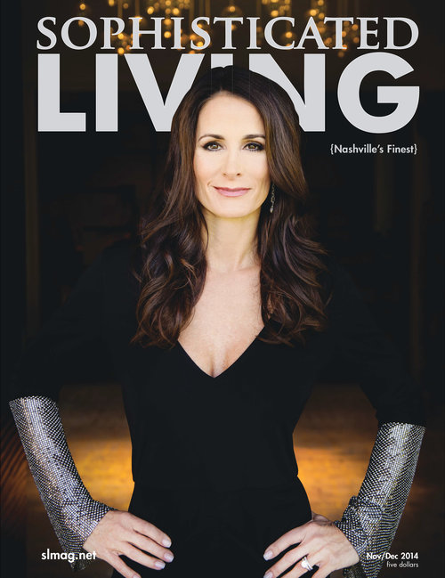 Sophisticated Living cover by Nashville commercial photographer Allen