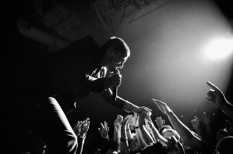 A musician captured during a live concert