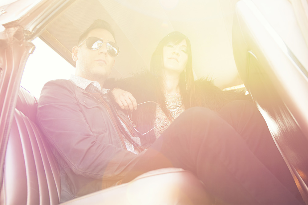 A musician couple captured by photographer Allen Clark