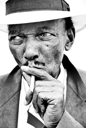 A musician captured by photographer Allen Clark