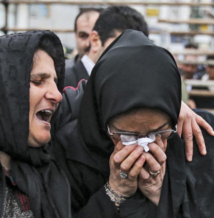 Alinejad with Balal's mother Kobra